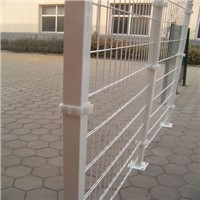 galvanized or pvc coated double wire mesh fence