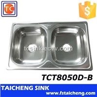 800x500mm Size 201 Material Economic Price Kitchen Stainless Sink