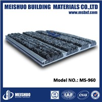 Interlocking Aluminum shop door mats for dirt control