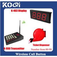 Queue Calling System for restaurant cafe hotel in 433.92mhz