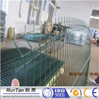 galvanized or pvc coated curvy welded wire mesh fence/ 3d fence panel