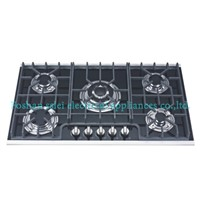 Built-in 5 Burners Kitchen Tempered Glass Gas Stove(9235A1)
