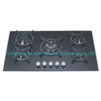 Build-in 5 Burners Tempered Glass Gas Stove(9115G2)