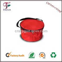 Red in color insulated lunch cooler bag inner cool