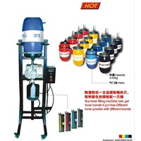 color toner power -barrel no auger filling machine/no cleaning