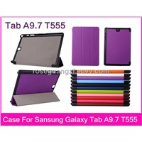 W001 Top quality Magnet Luxury PU leather Case Cover For Samsung galaxy Tab A 9.7 T555 tablet case