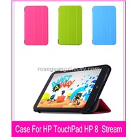 W002 new Magnet stand PU Leather Case Cover for HP Stream 8 Tablet case for HP Stream 8 Tablet case