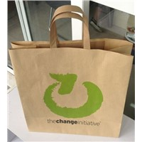kraft paper bag flat handle