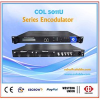 satellite receiver enco-modulator with mpeg-2 encoder qpsk qam rf modulator COL5011U
