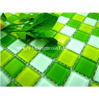 4mm thickness crystal glass mosaic  for pool, wall decoration