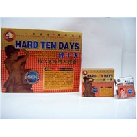 Hard Ten Days sex products sex medicine herbal pills 4500mg*6pills/pack