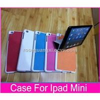 W007 PU Leather Case for apple Ipad Mini cover for apple ipad mini case leather stand cases