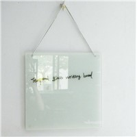 High quality OEM hanging tempered glass memo board