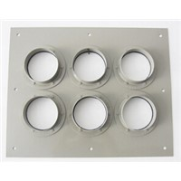 High Pure Alluminum Alloy 6 Port Entrance Panel Through-wall Type MK-EPT6