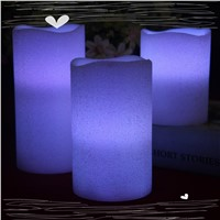 Hot sale decorative real wax flameless battery LED candle for decoration