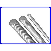 Low Carbon Steel Threaded Rod, Plain Finish