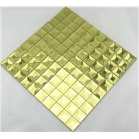 PM011 gold diamond mirror glass mosaic decorative tile