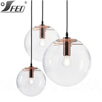 Sandra Lidner Selene restaurant decoration Clear ball glass pendant lamp