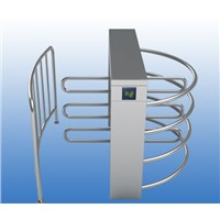 Stainless Steel Single Lane 90degree Rotation RFID Half Height Turnstile
