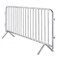 Hot dipped galvanized crowd control pedestrian barrier 1100mm x 2500mm movable bike race event fence