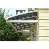 Wholesale Window Awnings with Aluminum Frame and Polycarbonate Solid Panel Roof