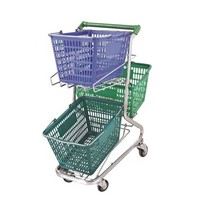 shopping cart with 3 baskets