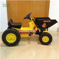 Child 4 wheel bike plastic toy car pedal car mini dumper