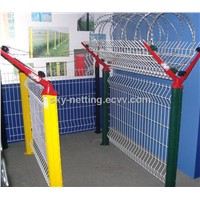 358 Anti Climb Military Prison Airport Bend Welded Mesh Security Fence ( factory price)