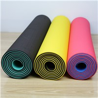 two tones TPE yoga mat high density