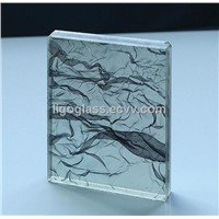 Decorative fabric laminated glass decorative tempered fabric glass