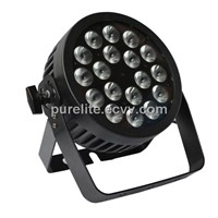 IP65 Waterproof Outdoor 18x12W RGBWA UV LED PAR Can Light, Slim Die-cast Aluminum Housing DMX512