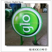 Round  double side shop front  signs