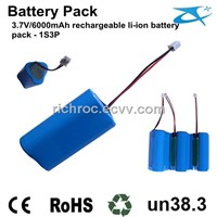 7.4V/2200mah Rechargeable Li-Ion Battery Pack 2S1P