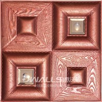 Classic 3D carved leather Wall panel board for wall decoration 1040