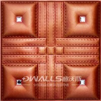 Good price decorative material diamond 3d leather wall board 1039