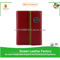 2015 fashion PU leather notebook, leather journal diary notebook