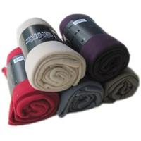 polar fleece blanket with solid color