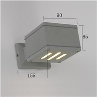 waterproof outdoor wall light  aluminum square exterior wall lamp