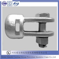 Hot dip galvanized cast iron socket tongue power line hardware