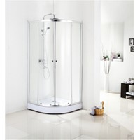 Sliding aluminum framed 5mm clear tempered glass  shower enclosure