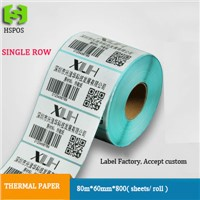 80*60mm*800pcs per roll thermal label paper for shipping marks