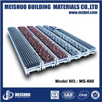 Residential anti slip flexible rubber folding doorway aluminum mat(MS-660)