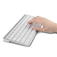 Bluetooth 3.0 wireless keyboard for iPhone / iPad, Android, Samsung, Tablet in White/Black color