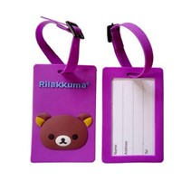 Custom ID card holder PVC luggage tag wholesale