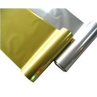 Metallic heat transfer foil for leather