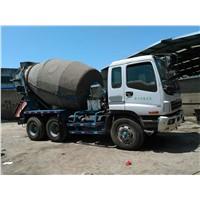 Used Isuzu concrete mixer truck