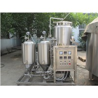 Zhuoda Company Lauter tun fermenter tank conical fermenter whole parts beer making machine ( ZD-50)