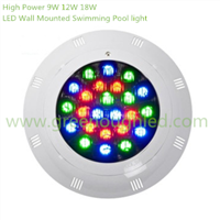 High Power LED Wall Mounted Swimming Pool light/RGB LED Fountain Light 9W 12W 18W