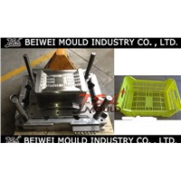 Injection plastic crate mould