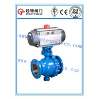 Cast Steel Pneumatic Operated Trunnion Ball Valve (Q647F)
